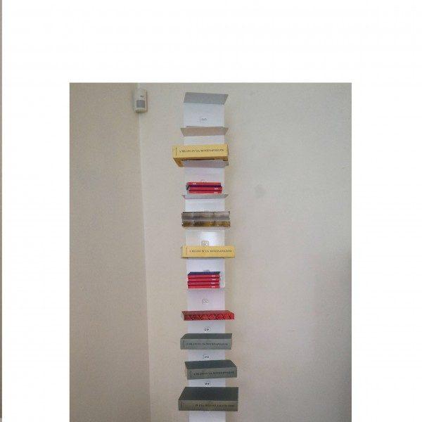 Ptolomeo libreria h 215 bianca base inox design bruno for Libreria ptolomeo