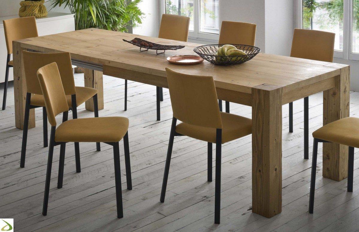 Storia tavolo allungabile 160 260x90 rovere for Tavoli in legno allungabili massello