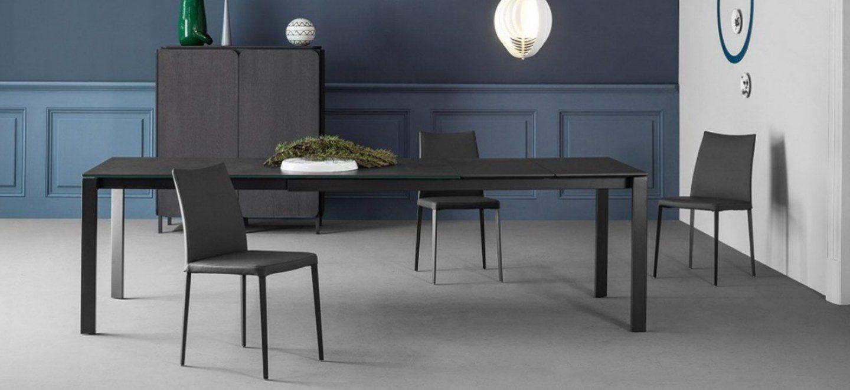 Menu tavolo 165x90 all tav antracite opaco ceramica for Tavola allungabile