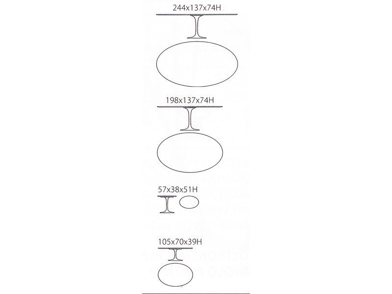 Tavolo Saarinen ovale laminato Knoll — Casarredo.it