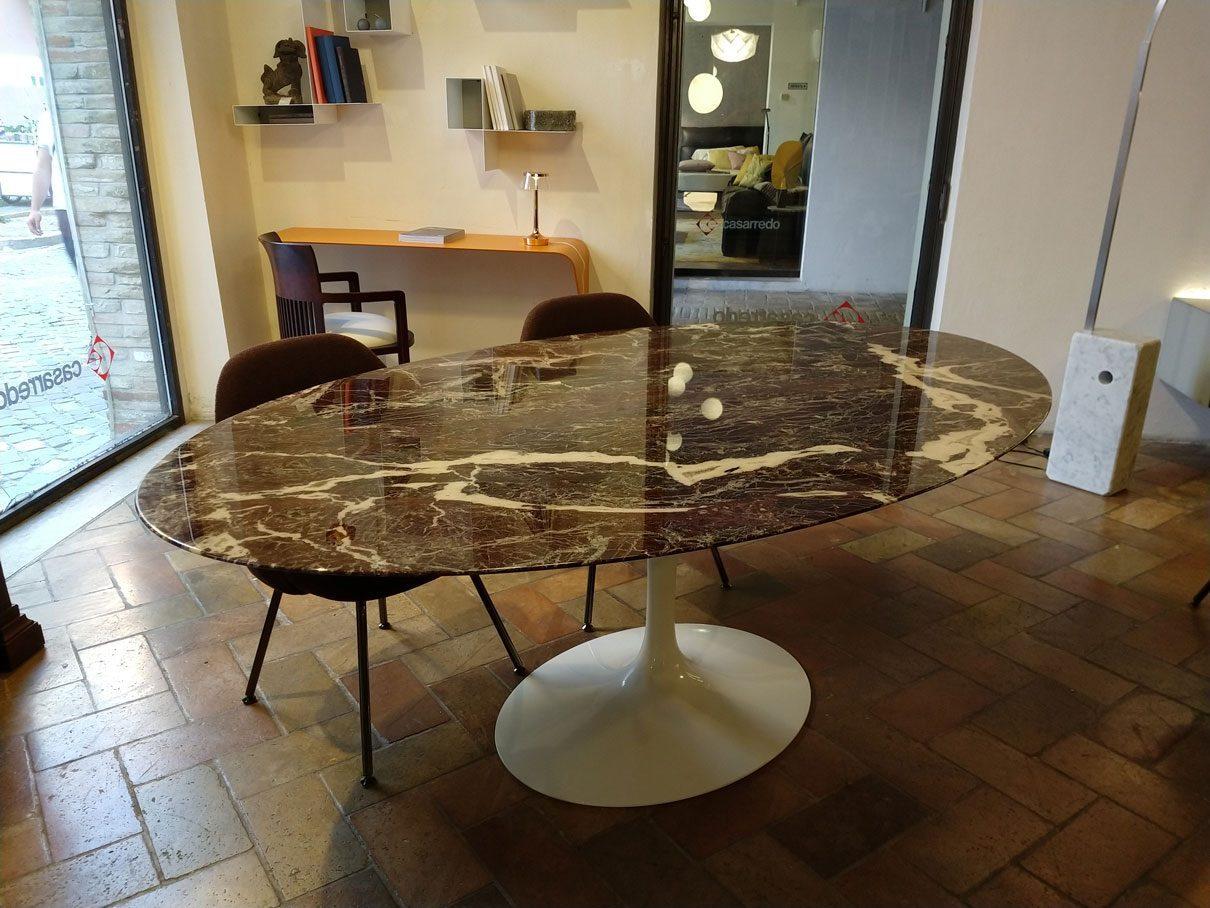 Tavolo Saarinen Marmo : Saarinen tavolo marmo rosso rubino u casarredo